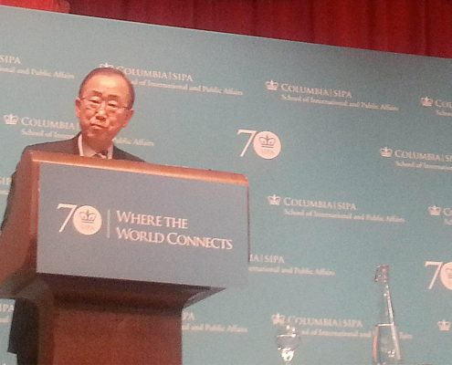 Ban Ki Moon at Italian Academy on October 26th, 2016
